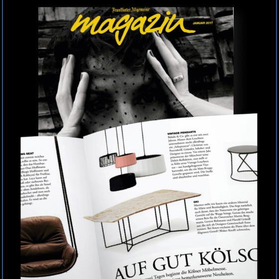 FAZ MAGAZIN / Special imm Cologne – 01/2017